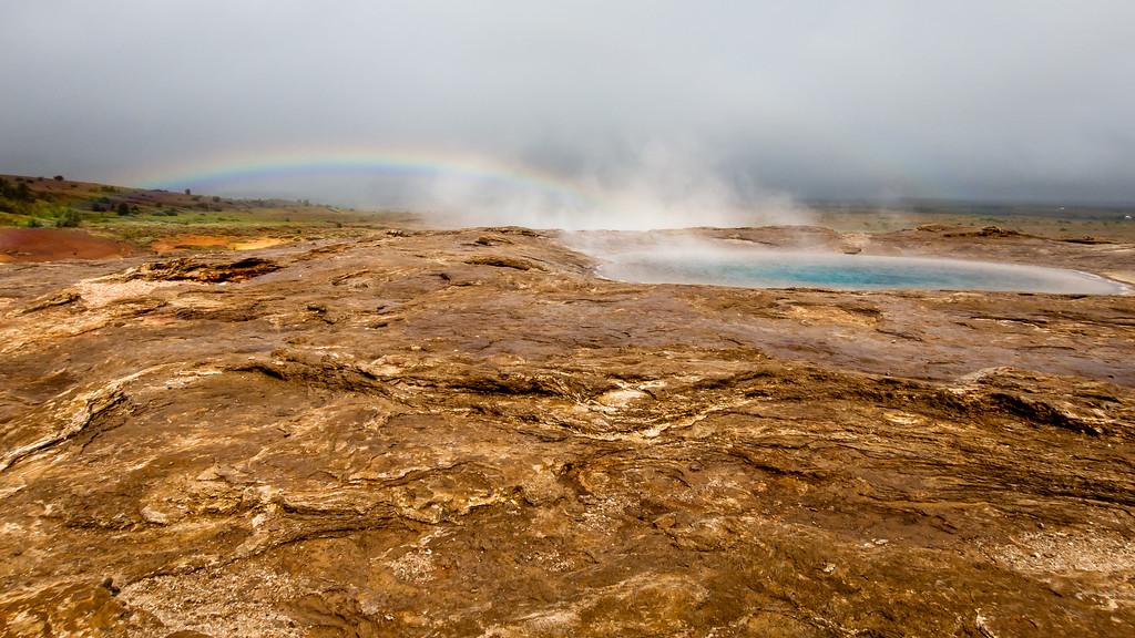 Haukadalur Springs Rainbow